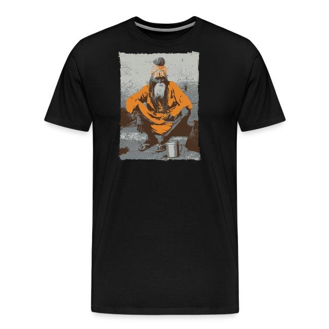 Indian holy man - Sadhu or Sādhu - orange