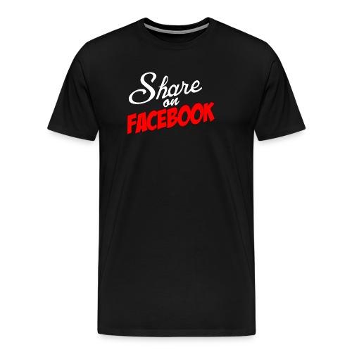 Share_on_fb_RED - Premium T-skjorte for menn