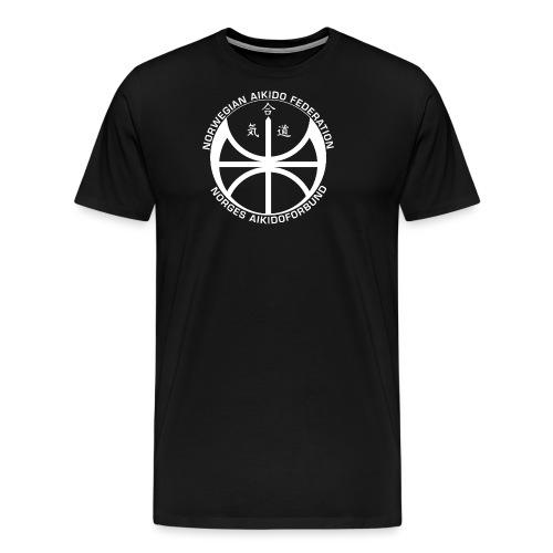 Hvit NAF logo - Premium T-skjorte for menn