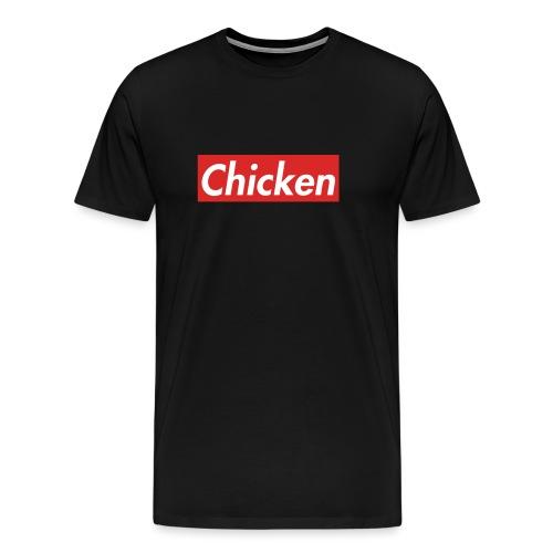 ChickenWhiteText - Men's Premium T-Shirt