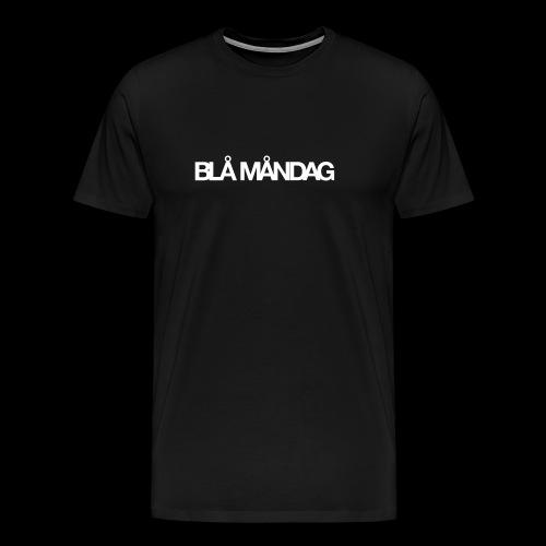 Blå måndag - Premium-T-shirt herr