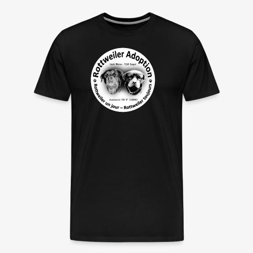 ROTTWEILER ADOPTION LOGO NOIR ET BLANC - T-shirt Premium Homme