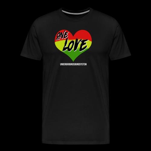 ONE LOVE - HEART - Männer Premium T-Shirt
