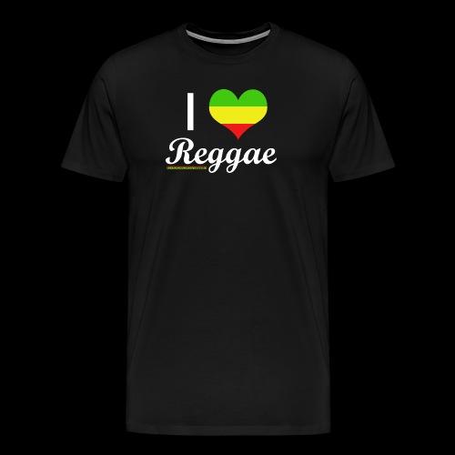 I LOVE Reggae - Männer Premium T-Shirt