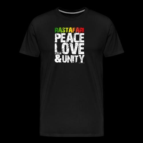 RASTAFARI - PEACE LOVE & UNITY - Männer Premium T-Shirt