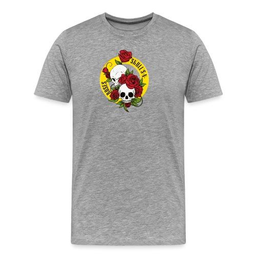 SKULL'S N ROSES - Camiseta premium hombre