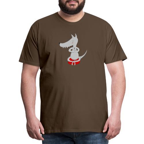 Wolf in tiefer Meditation - Männer Premium T-Shirt