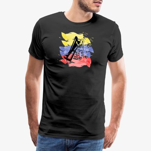 Llanero con arpa - Camiseta premium hombre