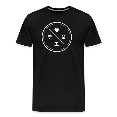 Stamp 3 Blanc - T-shirt Premium Homme