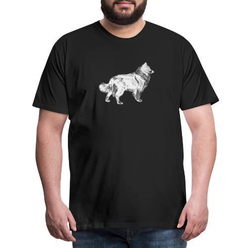 Collie negativ - Männer Premium T-Shirt