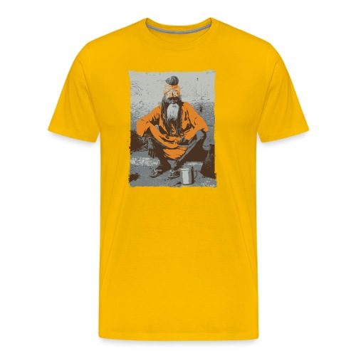 Indian holy man - Sadhu or Sādhu - orange - Men's Premium T-Shirt