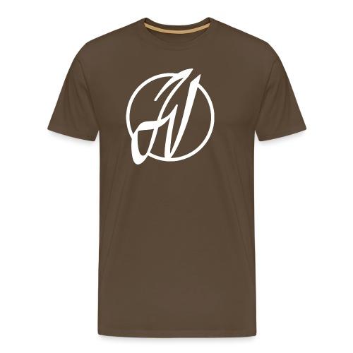 JV Guitars - logo blanc - T-shirt Premium Homme