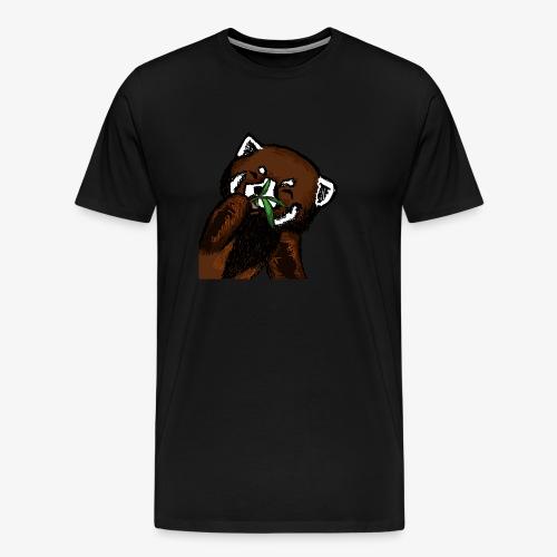 Cute red panda with Bamboo Wildlife T-Shirt - Men's Premium T-Shirt