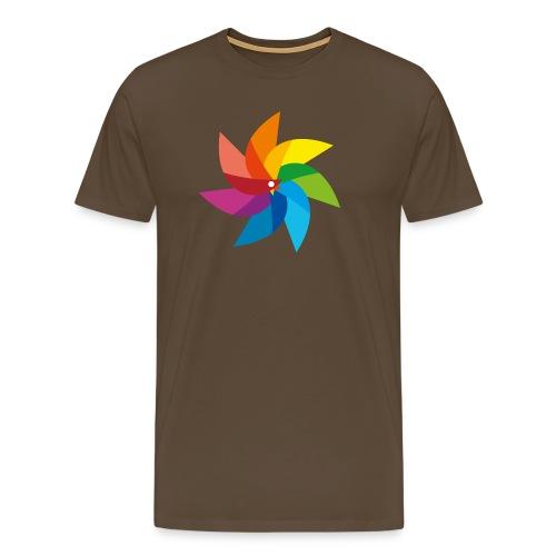 bunte Windmühle Kinderspielzeug Regenbogen Sommer - Men's Premium T-Shirt