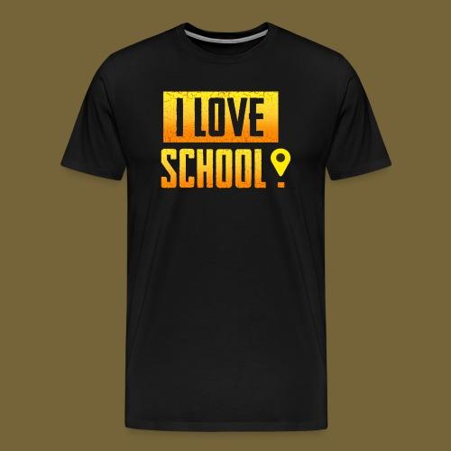 i love school - Männer Premium T-Shirt