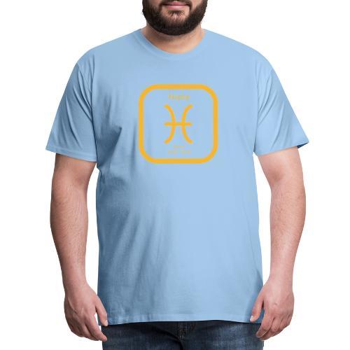 Horoskop Fische12 - Männer Premium T-Shirt