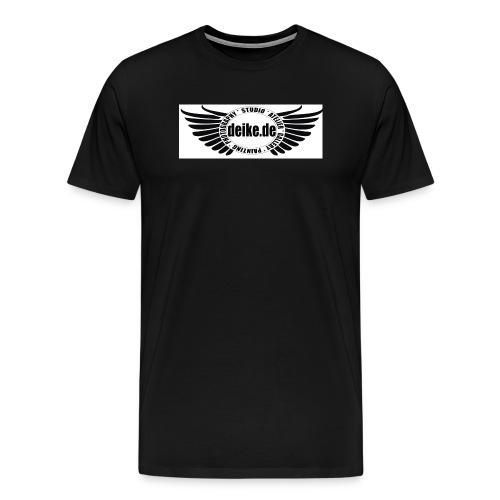 deike weiss transparent Kopie jpg - Männer Premium T-Shirt