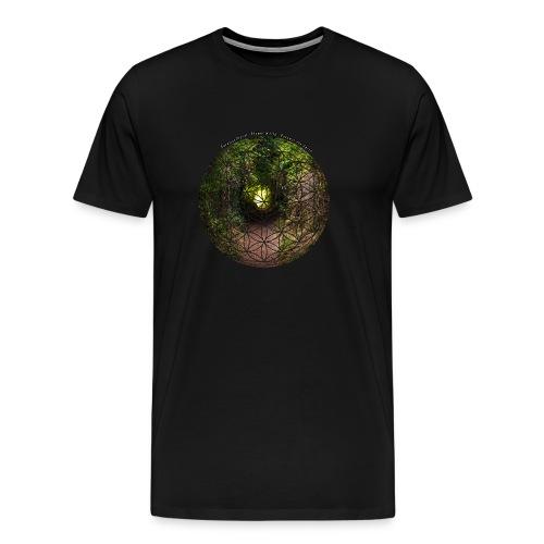 Blume des Lebens mit Natur- und Landschaschaft - Männer Premium T-Shirt