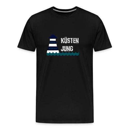 Norddeutsch Hamburg Küste Leuchtturm Plattdeutsch - Männer Premium T-Shirt