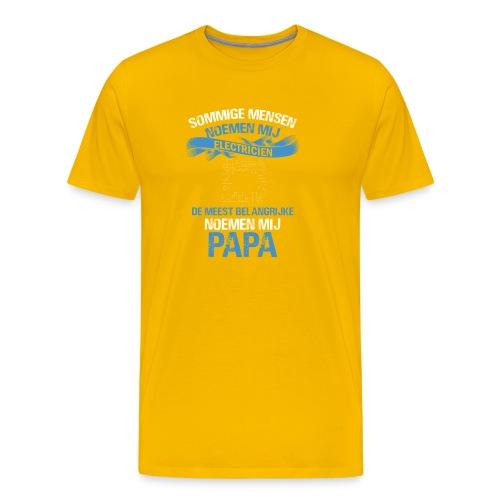 Electricien papa vaderdag cadeau. Cadeau-idee - Mannen Premium T-shirt