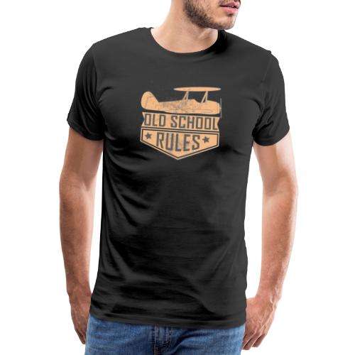 old school rules - Männer Premium T-Shirt