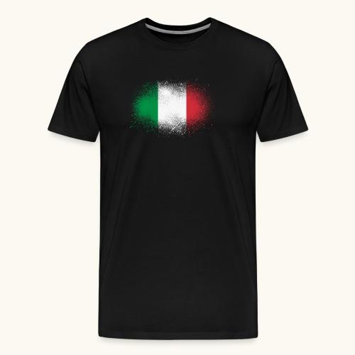 Italie cadeau drôle de drapeau italien grunge - T-shirt Premium Homme