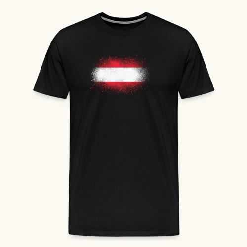 Österreich Grunge österreichische Flagge Geschenk - T-shirt Premium Homme