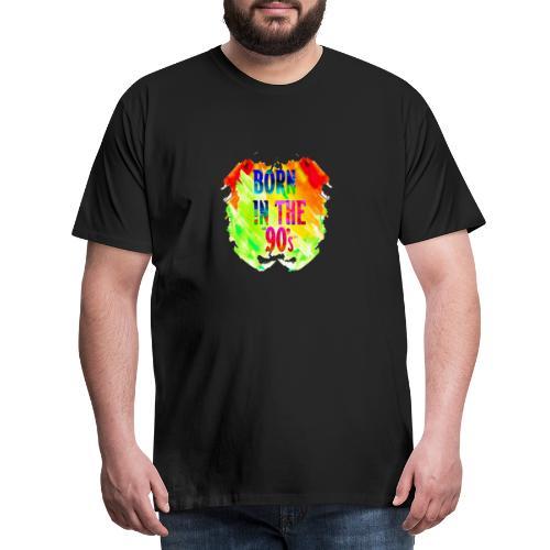 Born in the 90's / 90er Jahre Geschenk, farbenfroh - Männer Premium T-Shirt