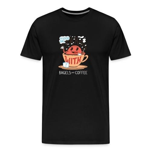 Bagels y café - Camiseta premium hombre