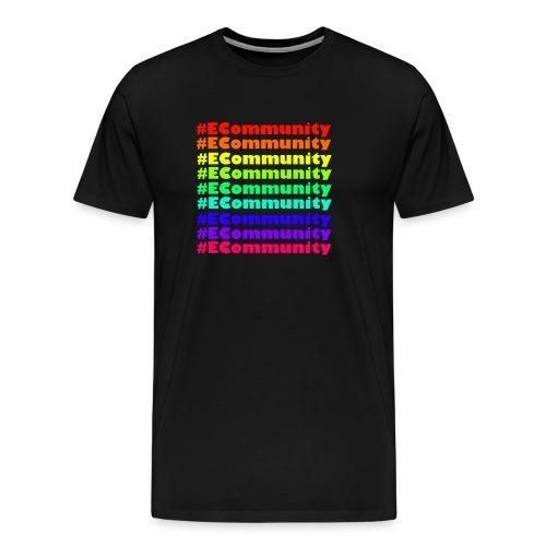 Ecommunity Rainbow - Männer Premium T-Shirt