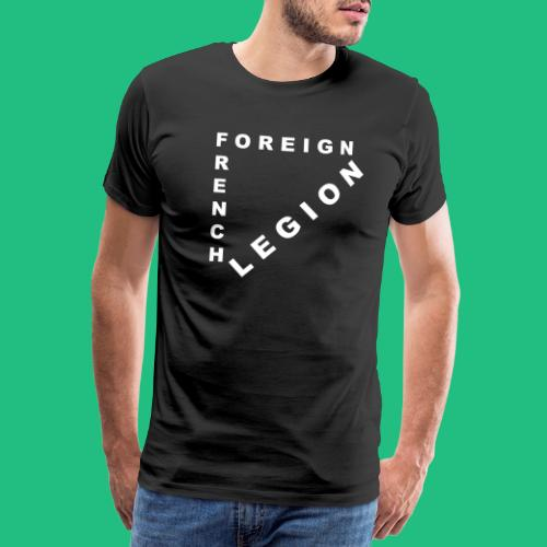 logo lettres triangle blanc - T-shirt Premium Homme