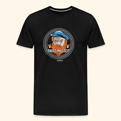 Whisky T Shirt Design Prost Maltzeit - Männer Premium T-Shirt