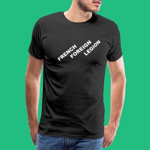 logo lettres decale blanc - T-shirt Premium Homme
