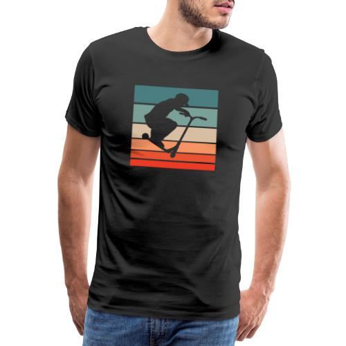 Scooter Stunt Tretroller Stunts Rollerfahrer Trick - Männer Premium T-Shirt