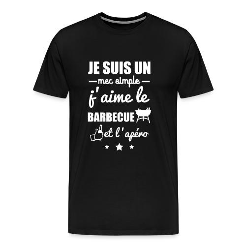 Mec simple barbecue apéro - T-shirt Premium Homme