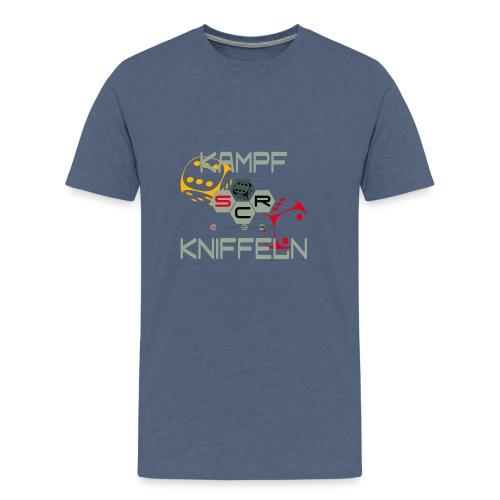 Kampfkniffeln png - Männer Premium T-Shirt