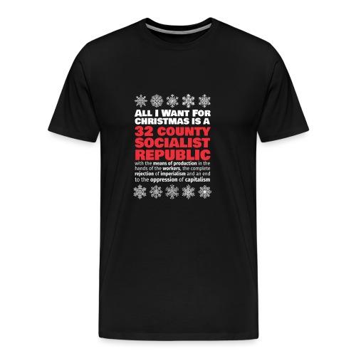 United Ireland 32 county socialist republic Christmas shirt - Men's Premium T-Shirt
