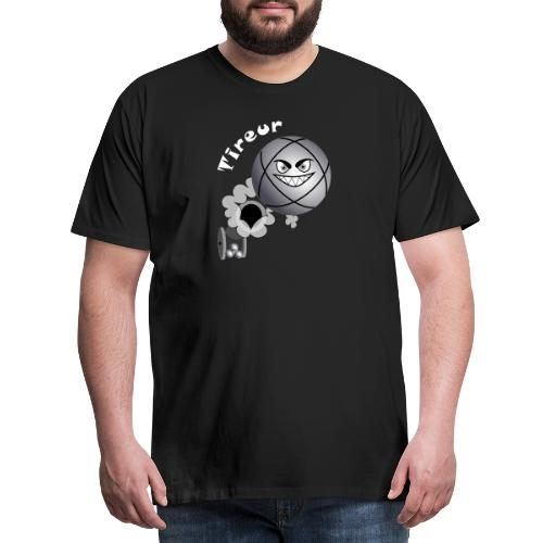 t shirt tireur pétanque boule existe en pointeur B - T-shirt Premium Homme