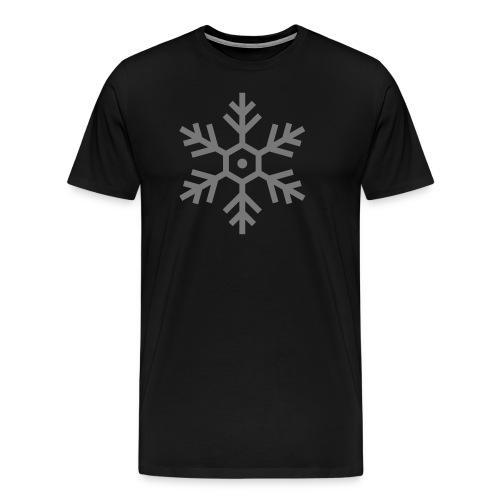 falling-snowflakes-free-s - Mannen Premium T-shirt