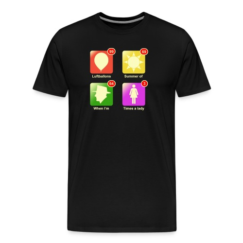 Muziek apps - Mannen Premium T-shirt