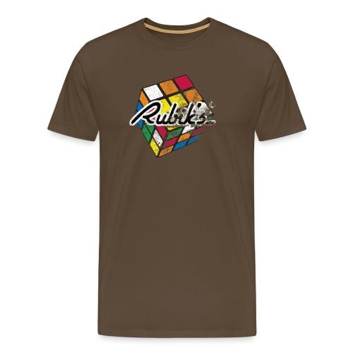Rubik's Cube Colourful Retro Magic Cube - Men's Premium T-Shirt