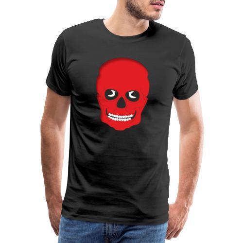 Calavera roja - Camiseta premium hombre