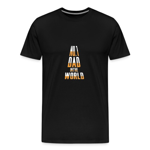 No. 1 Dad in the World - Men's Premium T-Shirt