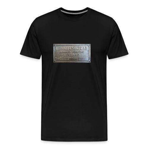 Tillverkningsskylt före 1967 - Premium-T-shirt herr