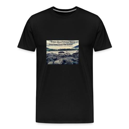 Oceanheart - Premium T-skjorte for menn