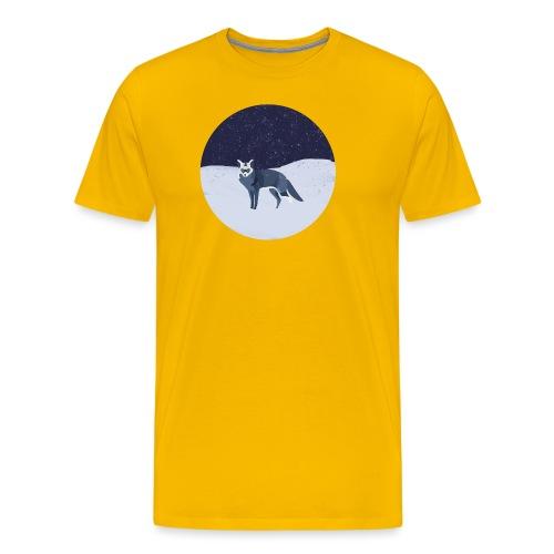Blue fox - Miesten premium t-paita