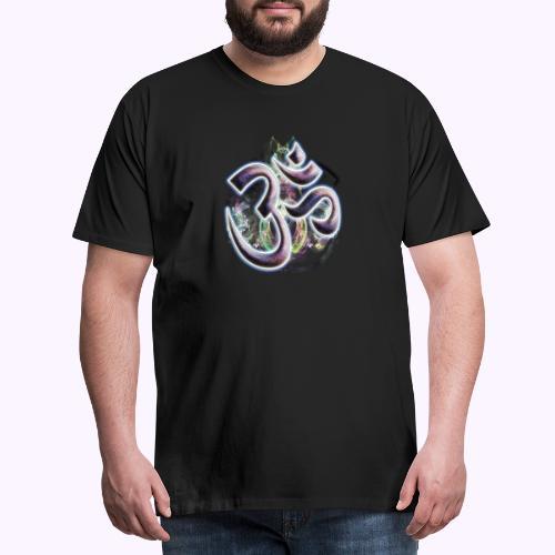 Fractal Om - Camiseta premium hombre