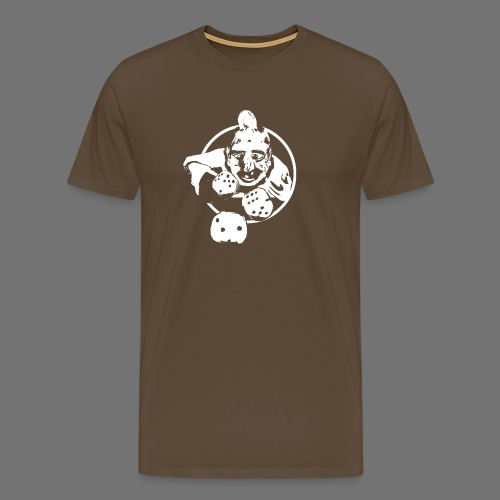 Professional Gambler (1c valkoinen) - Miesten premium t-paita