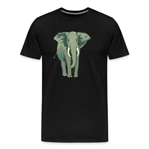 Elephant Illustration - Männer Premium T-Shirt