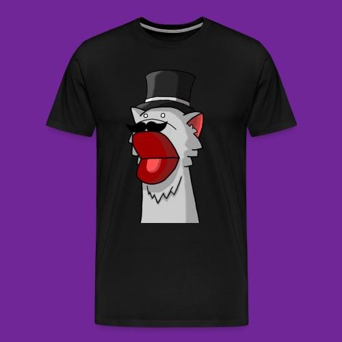 Katze mit Hut Handpuppe - Männer Premium T-Shirt